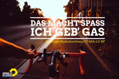 Radfahren – das macht Spaß, ich geb Gas