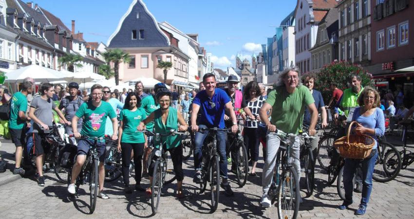 Angekommen im schönen Speyer – die glücklichen Fahrradabenteurer!