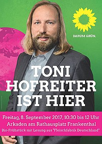 Toni Hofreiter am 8. September 2017 in Frankenthal