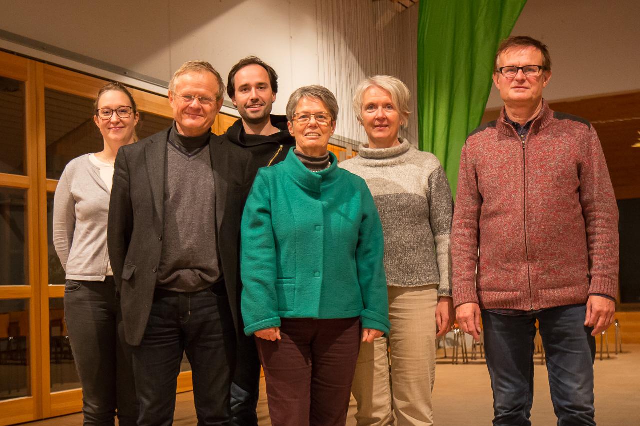 Vorstand des KV Rhein-Pfalz – v.l.n.r.: Sara-Jane Potraffke, Armin Grau, Martin Eberle, Brigitte Meißner, Ulla Behrendt-Roden, Michael Keesmeyer. (Es fehlt: Johannes Reinig)